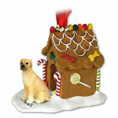 GREAT DANE Uncropped Fawn Dog Ginger Bread Gingerbread House Christmas ORNAMENT