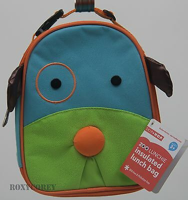 Skip Hop Blue Green Dog Zoo Lunchie Insulated Lunch Bag Tote 7X9X3 NWT