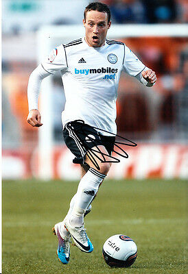 Derby County F.C Ben Davies Hand Signed 11/12 Photo 12x8 3.