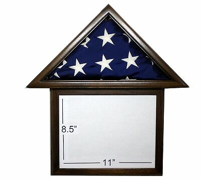 3 X 5 Black Walnut And Frame Flag Display Case Capital Usa American Military Box