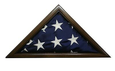 3 X 5 Black Walnut Flag Display Case  Capital Eagle Scout Usa Made Military Box