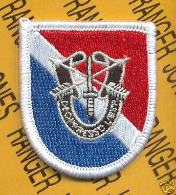 11th Special Forces Airborne beret flash DUI patch D