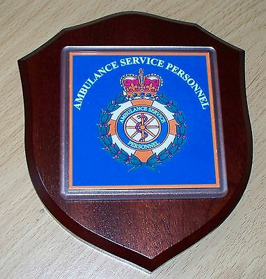 Ambulance Service Personnel England Wall Plaque personalised