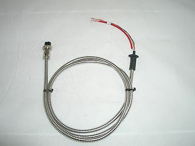 WORKMAN KC-4 4FT CHROME METAL HAND MICROPHONE MIKE CABLE 6 WIRE w/ 4 PIN PLUG