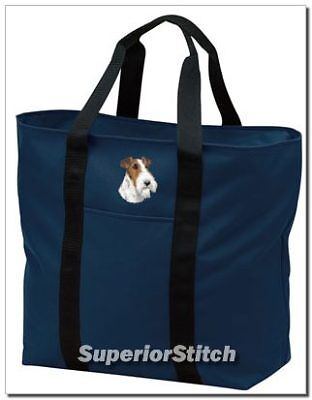 FOX TERRIER embroidered tote bag ANY COLOR