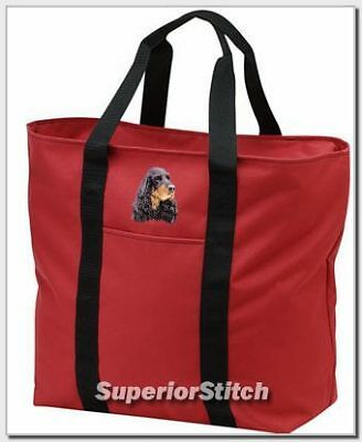 GORDON SETTER embroidered tote bag ANY COLOR