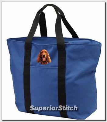 IRISH SETTER embroidered tote bag ANY COLOR