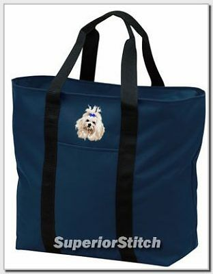MALTESE embroidered tote bag ANY COLOR