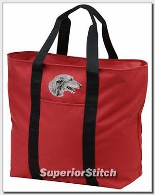 SCOTTISH DEERHOUND embroidered tote bag ANY COLOR