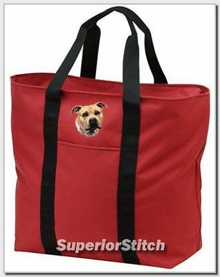 STAFFORDSHIRE TERRIER embroidered tote bag ANY COLOR