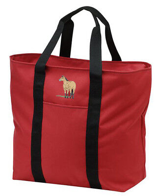 BUCKSKIN horse embroidered tote bag ANY COLOR