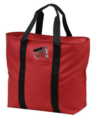 WESTERN PLEASURE horse embroidered tote bag ANY COLOR