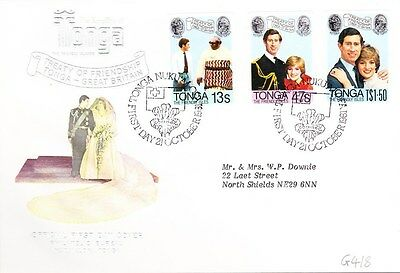 1981 Tonga Royal Wedding First Day Cover Special Postmark G418