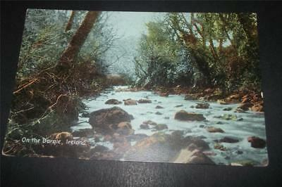 Old Postcard Of On The Dargle, Ireland - Free Uk Postage