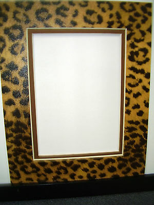 Picture Mat Leopard with brown 8x10 for 5x7 photo Cheetah Animal Print Double