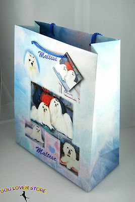 Maltese Dog Gift Present Bag