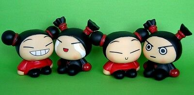 Set of 4pc Japan Anime Pucca & Garu Korea Style Doll Coin Bank Figures Toys NEW
