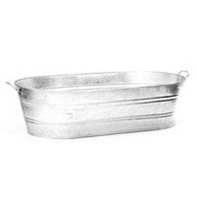 Lot Of (3) 5.6 Gallon Hot Dipped Galvanized Water Oval Wash Tubs 6981906