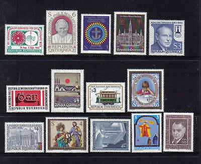 STAMPS   from  AUSTRIA    YEAR 1983  part 2  (MNH)  lot 908a  (14)