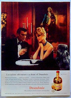 Vintage 1961 Drambuie Cordial With Scotch Whiskey Base Magazine Ad
