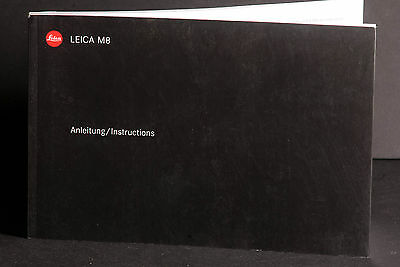Leica M8 Camera Genuine Instruction Book / Manual / User Guide
