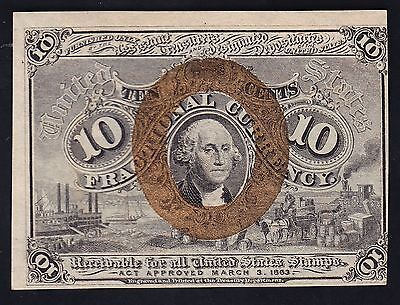 US 10c Fractional Currency FR1244 CU