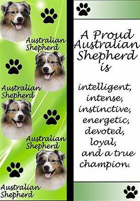 Australian Shepherd 3_D Bookmark Dog Book Mark With Free Shipping - NEW!!