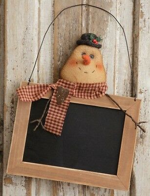 SALE /Country new hanging SNOWMAN wood message board /nice winter decor or gift