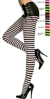 Plus Size Lingerie Hosiery Pantyhose Opaque Striped Tights Q/s