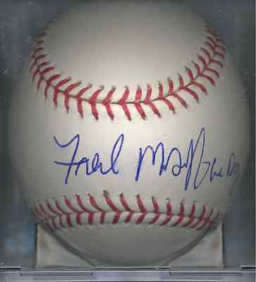 Fred McGriff Crime Dog Chicago Cubs Autographed Signed OML Baseball COA