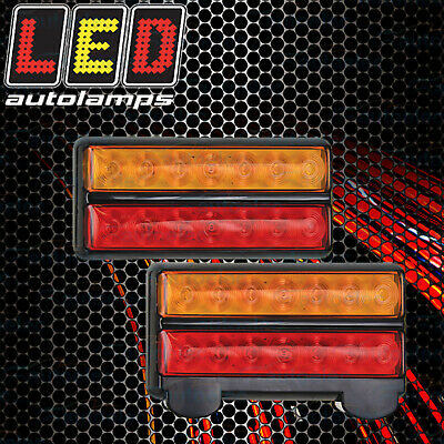 Genuine Led Brand Submersable Boat Trailer Tail Lights Lamps Pair Waterproof 12V
