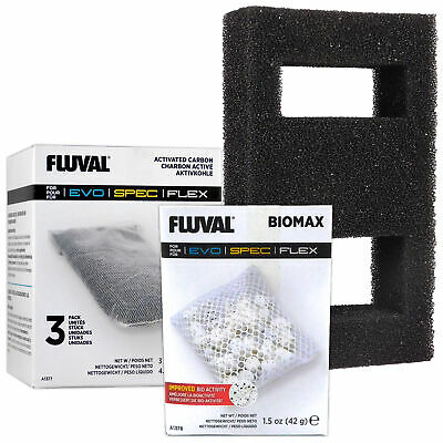 Fluval Spec Media Pack - Biomax A1378, Carbon A1377 & Filter Foam Block A1376