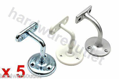 5 Handrail Brackets 3 Finishes Available - For Stairs Decking Handrails Brackets