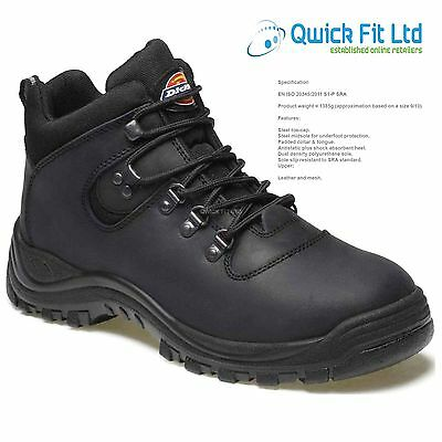 New Mens Dickies Fury Leather Safety Shoes Work Hiker Ankle Boots Steel Toe Cap