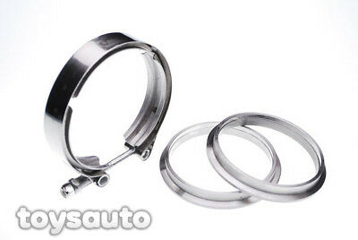 """Rev9 4"""" V Band Flange Clamp Turbo Exhaust Downpipe Testpipe Test pipe"""