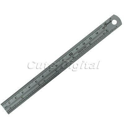 Stainless Steel Machinist Measuring Straight Double Side Marker Ruler Scale Tool