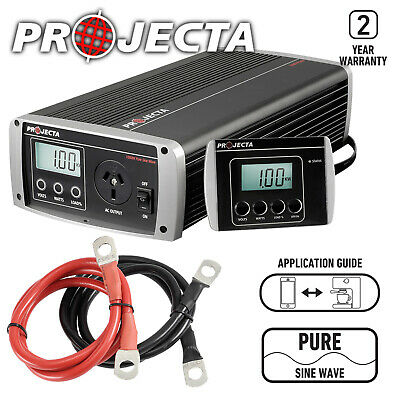 Projecta Pure True Sine Wave Inverter Ip1000 Power 1000W Caravan 12V 12 Volt New