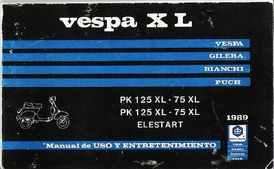 Vespa PK 75/125 XL Elestart (1989) - manual de taller en CD