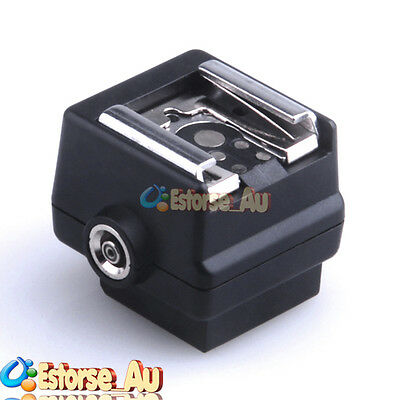 Flash Hotshoe Adapter Converter For Sony Camera to Canon Nikon Flash PC Socket