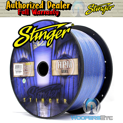 Stinger Shw516B-500 Hpm 16 Awg Blue 500 Feet Speaker Car Home Audio Cord Cable