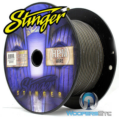 Stinger Shw512G-100 Hpm 12 Awg Gray 100 Feet Speaker Car Home Audio Cord Cable