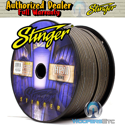 Stinger Shw512G-250 Hpm 12 Awg Gray 250 Feet Speaker Car Home Audio Cord Cable