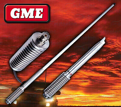 Gme Ae4703 White Heavy Duty Hi Gain Uhf Cb Radio Antenna Bull Bar Fiberglass New