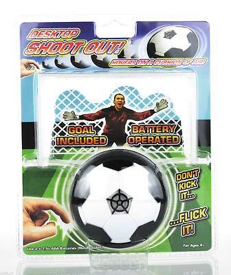 Desktop Hovering Football Soccer Shootout Goal Executive Toy Gadget Gift - NEW
