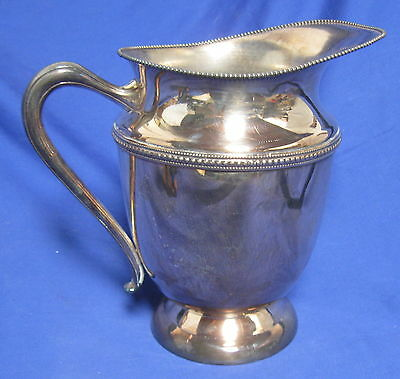 Glastonbury Silver Plate Oneida 205 Water Pitcher Beaded Pattern Help ? Vintage
