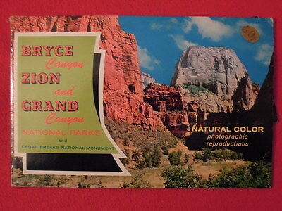 1960s Bryce Canyon, Zion & Grand Canyon National Parks Booklet