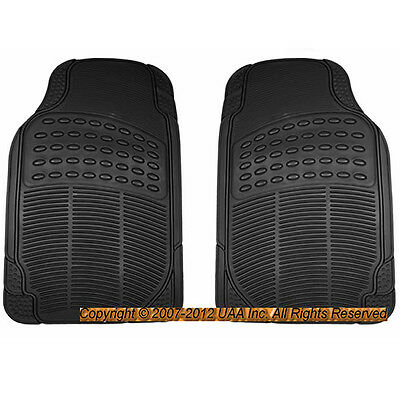 2PC BLACK ALL WEATHER RUBBER FLOOR MATS SET for TOYOTA COROLLA CAMRY SIENNA