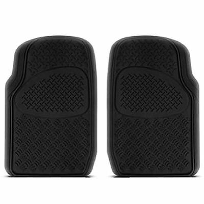 2PC BLACK HEAVY DUTY RUBBER FLOOR MATS SET for TOYOTA TACOMA TUNDRA