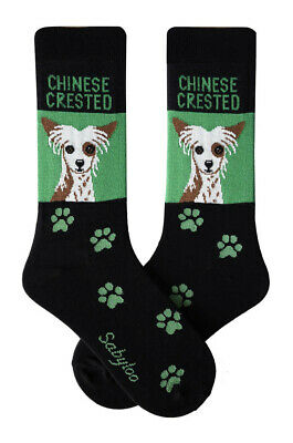 Chinese Crested Socks Lightweight Cotton Crew Stretch Egyptian Made