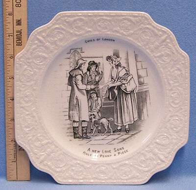 Vintage Cries of London New Love Song Collectors Plate Crown Devon Fieldings